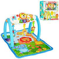 Тренажер детский FS-35902 5в1, подвески 3 шт, музыка, свет, регулируется громкость, коврик