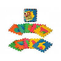Коврик-мозаика, 10 дет. Животные, EVA, M2738