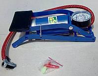 Насос ножной автомобильный с манометром для автомобиля, велосипеда, надувной мебели и мячей