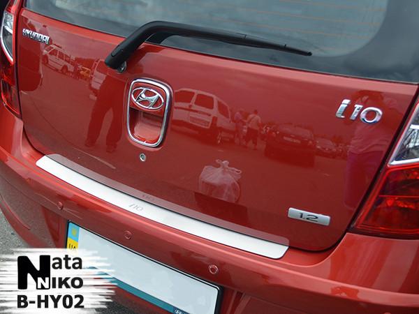 Накладка на бампер Premium Hyundai i10 5D 2008-