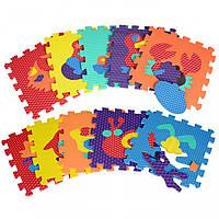 Коврик-мозаика, 10 дет. Животные, EVA, массажный M2616