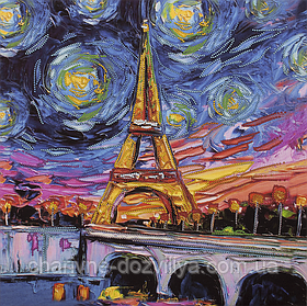 """Схема для вышивания бисером на подрамнике """"Парижские тайны"""""""