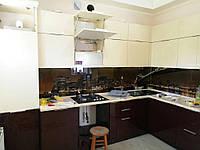 Встроенная кухня крашенный MDF , кухонный фартук 1