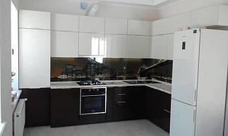 Встроенная кухня крашенный MDF , кухонный фартук