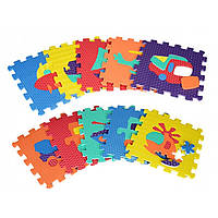 Коврик-мозаика, 10 дет. Транспорт, пазл, EVA, массажный., M2620