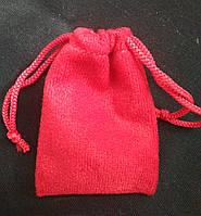 Мешочки ювелирные, бархат красный матовый, 7х9 см, 1шт. Производство Украина