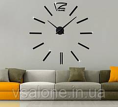 Декоративні настінні годинники Woow black (D=1м)