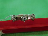 Кольцо  серебряное с золотой пластиной