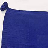 Плед вязанный 140х180см Olvia синий SoundSleep, фото 2