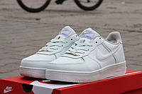 Мужские зимние кроссовки Nike Air Force белые 45,46р
