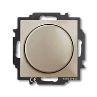 Диммер ABB Basic 55 поворотный светорегулятор 400Вт шампань