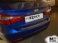 Накладка на бампер Premium Kia Rio III 4d 2012-