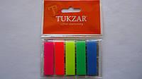 Закладки-индексы неоновые «Stick Notes»,125шт,5цв,Tukzar, 42*12мм.Закладки-індекси неонові «Stick Notes»,125шт