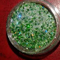 Новогодний микс для дизайна ногтей зеленый