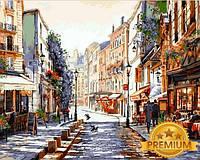 Картины по номерам 40×50 см. Babylon Premium Монмартр Париж Художник Ричард Макнейл