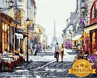 Картины по номерам 40×50 см. Babylon Premium Прогулка по Парижу Художник Ричард Макнейл, фото 1