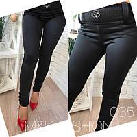 Женские стильные лосины-брюки со стразами, р.р 42-48