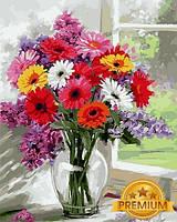 Картины по номерам 40×50 см. Babylon Premium Герберы Художник Ричард Макнейл, фото 1