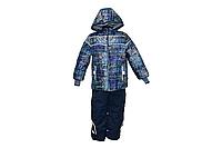 Детский зимний комплект куртка и полукомбинезон синий для мальчика