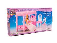 Игрушечная мебель для кукол gloria 2614 спальня с трюмо