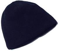 Шапка мужская теплая на флисе темно-синяя