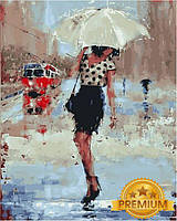 Картины по номерам 40×50 см. Babylon Premium Дождливый день Художник Лаура Ли Зангетти, фото 1