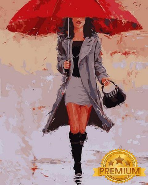 Картины по номерам 40×50 см. Babylon Premium Большой Красный Художник Лаура Ли Зангетти