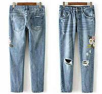 Классные джинсы с вышивкой.