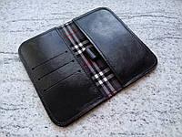 Кожаный чехол клатч для Alcatel One Touch Idol 4 6055K (ручная работа, индивидуально под модель телефона)