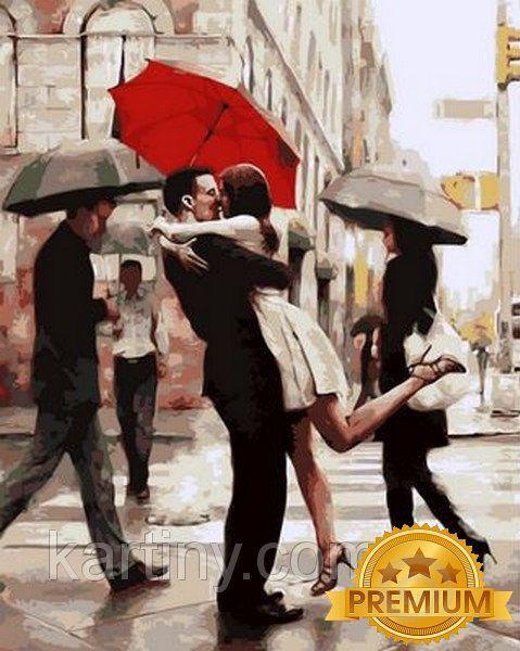 Картины по номерам 40×50 см. Babylon Premium Поцелуй при встрече Художник Даниэль Дель Орфано