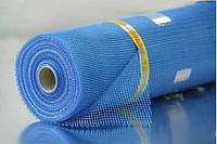 Сетка стеклотканевая синяя штукатурная армирующая 145г\м2 - 5*5мм (1*50м) (для наружных работ)