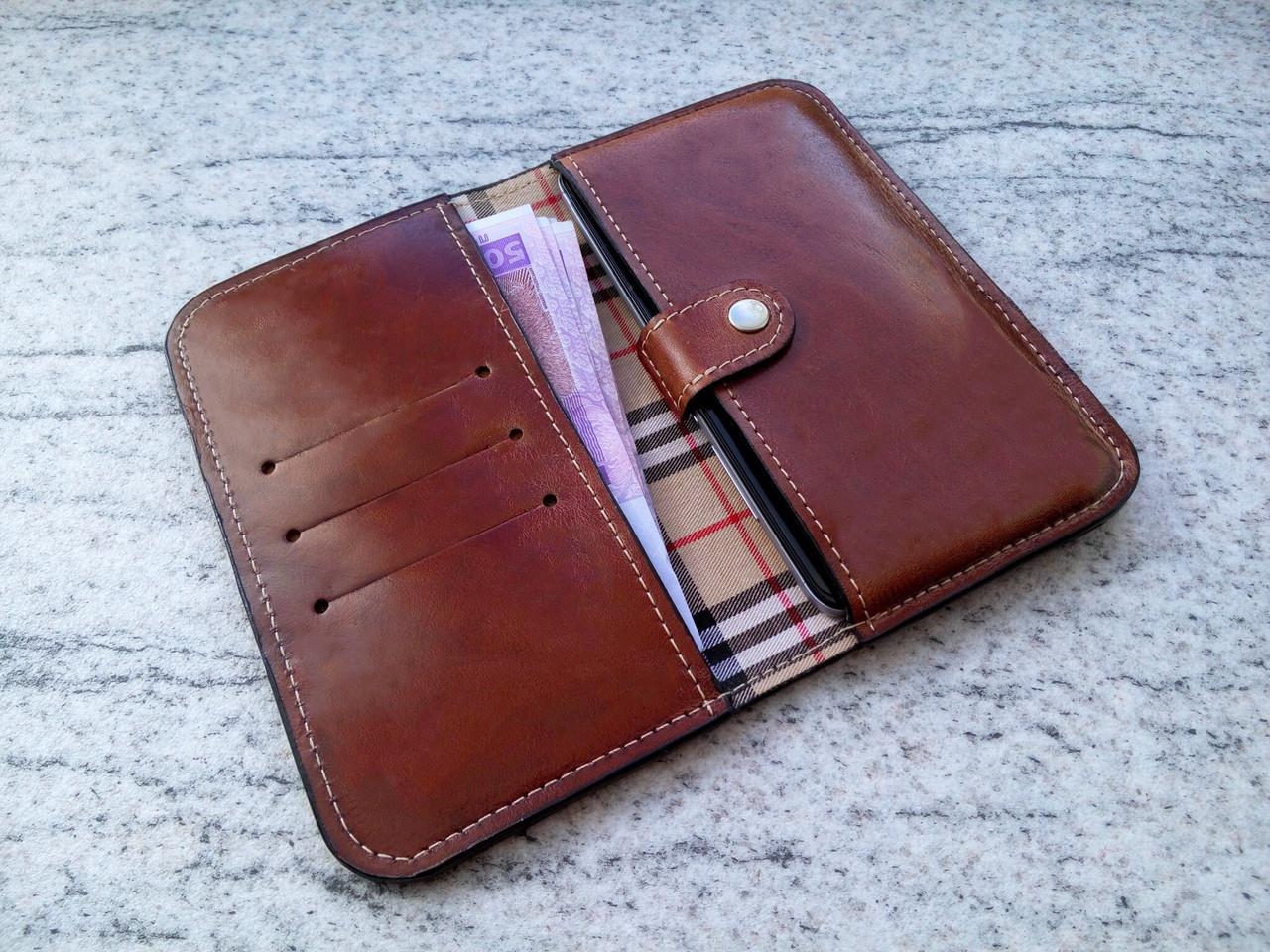 0a95cab56e01 Кожаный чехол клатч для Apple iPhone 7 Plus (ручная работа, индивидуально  под модель телефона
