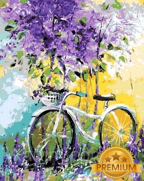 Картины по номерам 40×50 см. Babylon Premium (цветной холст + лак) Мой велосипед Художник Ольга Дарчук