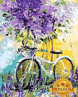 Картины по номерам 40×50 см. Babylon Premium (цветной холст + лак) Мой велосипед Художник Ольга Дарчук, фото 1