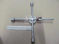 Ключ балонный крест усиленный, с центральный пластиной, 17X19X21X1/2 мм.