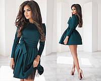 Коктейльное платье с фатиновым подъюбником