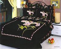 Семейный комплект постельного белья Le Vele Buket-black