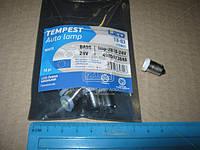 Лампа LED  габарит, посветка панели приборовT8-03 (1LED) BA9S  белый 24 Volt tmp-28T8-24V