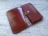 Кожаный чехол клатч для LG Q6a 2 (ручная работа, индивидуально под модель телефона)