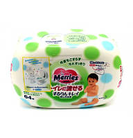 Салфетки Merries Flushable пластиковая упаковка 64 шт.