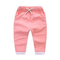 Детские котоновые штаны персик