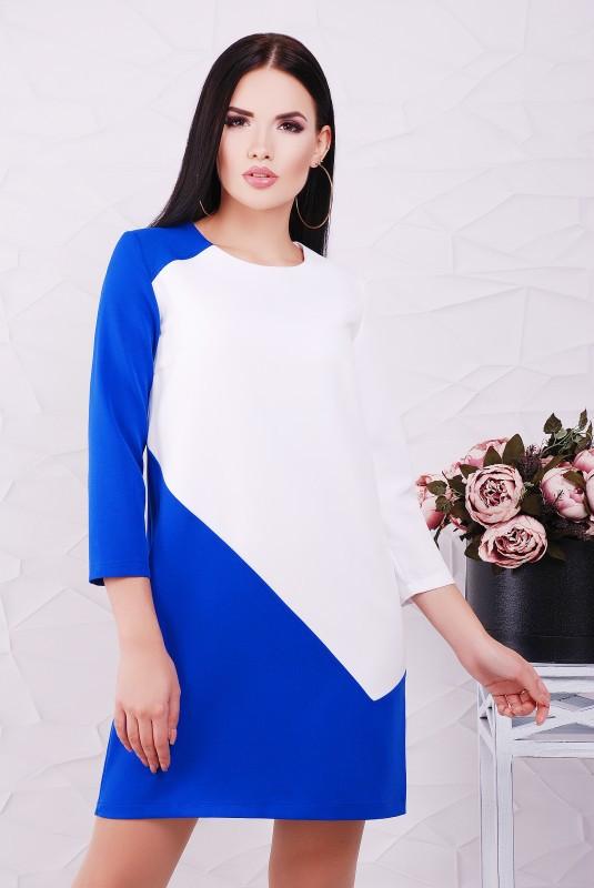 Стильное комбинированное платье