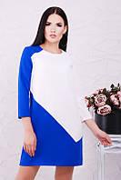 Стильное комбинированное платье, фото 1