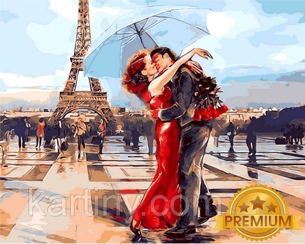 Картины по номерам 40×50 см. Babylon Premium Париж - город влюбленных