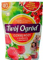 Чай фруктовый пакетированный Twoi Ogrod с шиповником, клубникой и ревенем (40штх2г) Польша