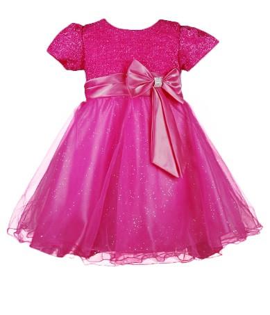 Вечернее  платье для девочек с мерцающим лифом