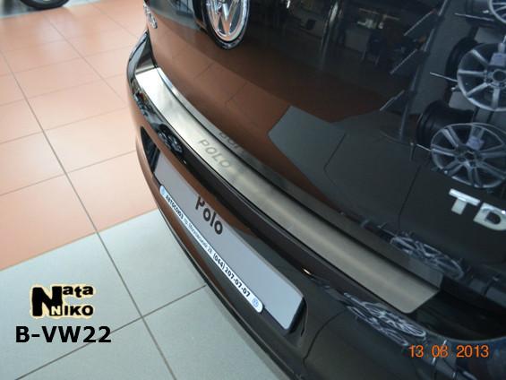 Накладка на бампер Premium Volkswagen Polo V 4D 2009-