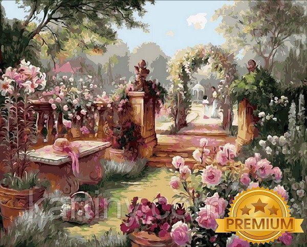 Картины по номерам 40×50 см. Babylon Premium Райский сад Художник Бренда Берк