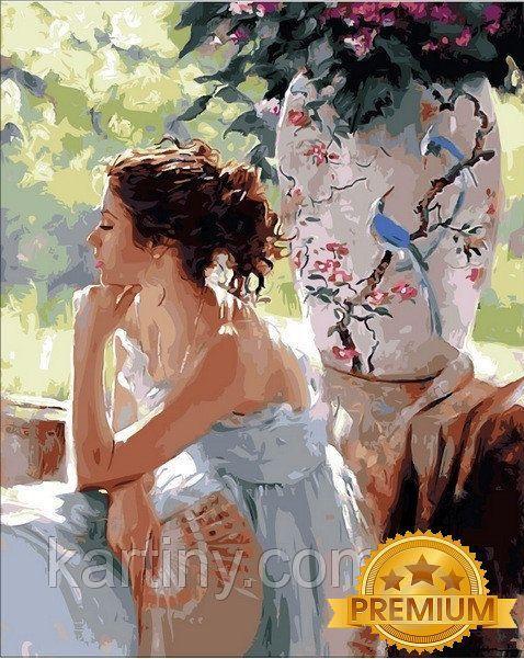 Картины по номерам 40×50 см. Babylon Premium Мечтательница Художник Ричард Джонсон