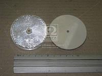 Катафот круглый с крепежным отверстием по центру (белый) (пр-во Украина) ФП-319